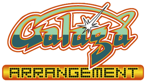 Galaga arrangement psp logo by ringostarr39-d7objzo