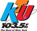 WKTU-FM's 103.5 Logo From February 9, 1996