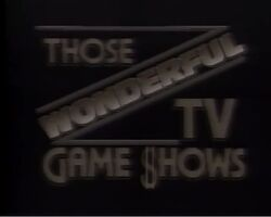 Those Wonderful TV Game Shows