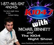 WSPK-FM's Michael Bennett And The K104 Night Show Promo From March 2012