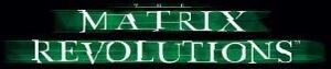 The matrix revolutions movie logo