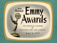 11th Primetime Emmy Awards poster