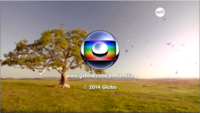 Em Família seal short Globo 2008-2014 logo 2014
