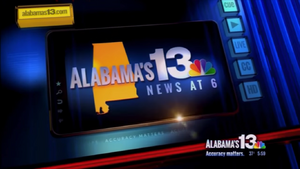 WVTM Alabama's 13 News at 6 Video Open from 2014