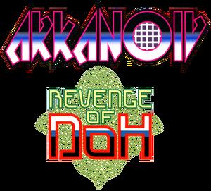 Arkanoid revenge of doh logo by ringostarr39-d7hkeev
