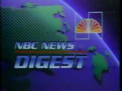NBC News Digest intro 1984