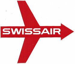 Swissair arrow 1950s