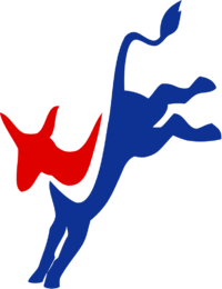 Democratic logo (kicking donkey)
