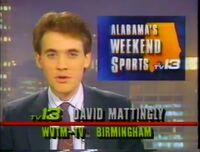 WVTM-TV 13 Alabama's Weekend News with David Mattingly 1991