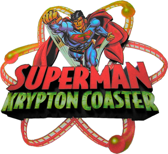 Superman Krpyton Coaster logo