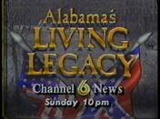 WBRC-TV Channel 6 News Alabama The Living Legacy promo 1991