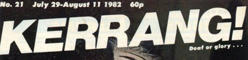 Kerrang old logo early 1980s