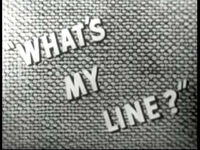 What's My Line 1950 b
