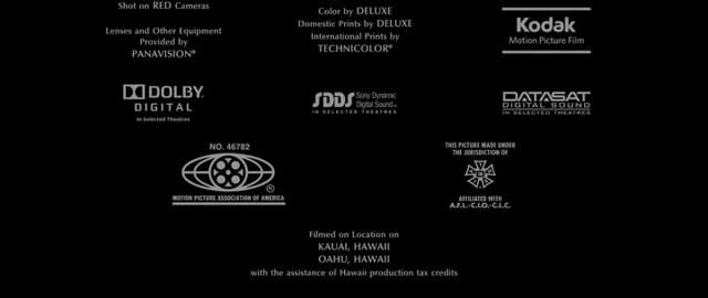Prints By Deluxe Credits: Pirates Of The Caribbean On Stranger Tides MPAA
