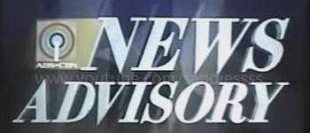 ABS-CBN News Advisory 2001