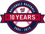 Washington Nationals logo (10th anniversary)
