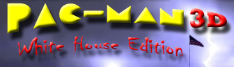 Pac-Man 3D White House Edition Logo