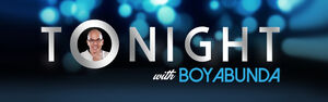 Tonight with boy abunda card