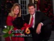 WBRC-TV Channel 6 Holiday Station Ident December 1990