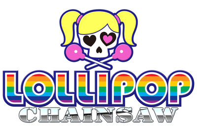 Lollipop Chainsaw Logo Splash Screen (White)