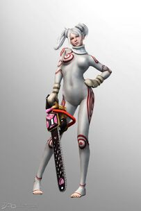 Lollipop Chainsaw Skins Shiro cosplay (Deadman Wonderland)