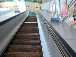 Going up wooden escalator at Greenford 16-06-06