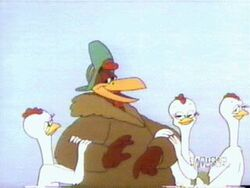 Foghorn with hens