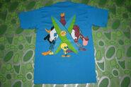 Vintage 90s Warner Bros Tasmanian Devil Looney Tunes Taz Youth XL Size 80s T-shirt (Back)