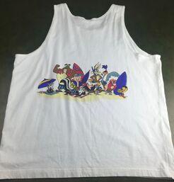 True Vintage 1991 Looney Tunes Bugs Bunny Daffy Duck Sleeveless Beach Tank Top (Back)