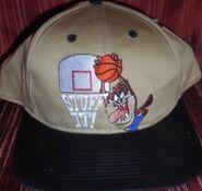 VTG Space Jam Tasmanian Devil Taz Looney Tunes Snapback Hat NBA Basketball Cap