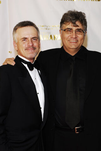 File:Annie Awards Rob paulsen and maurice lamarche.jpg
