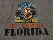 Vintage 80's Looney Tunes TAZ SURFING FLORIDA 1986 T Shirt
