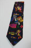 Looney Tunes Neon 55 Tie Scuba Diving Ocean Fish Taz Bugs Bunny Tweety Necktie