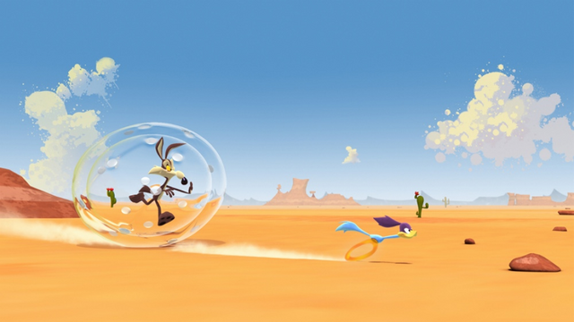 File:Wile E. Coyote and the Road Runner in 3D.png