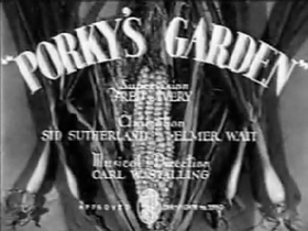 Porky's Garden Original BW Titles