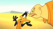 Crusher Glares at Daffy