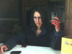 Anna Silk - during filming of pilot (Vexed)