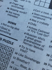 Inga Cadranel - New York Times crossword puzzle (7-4-2015)