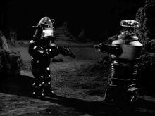 Robot B-9 confronts the Robotoid