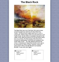 Black rock painting