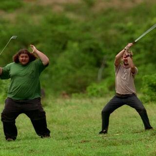 Hurley tańczący na <a href=