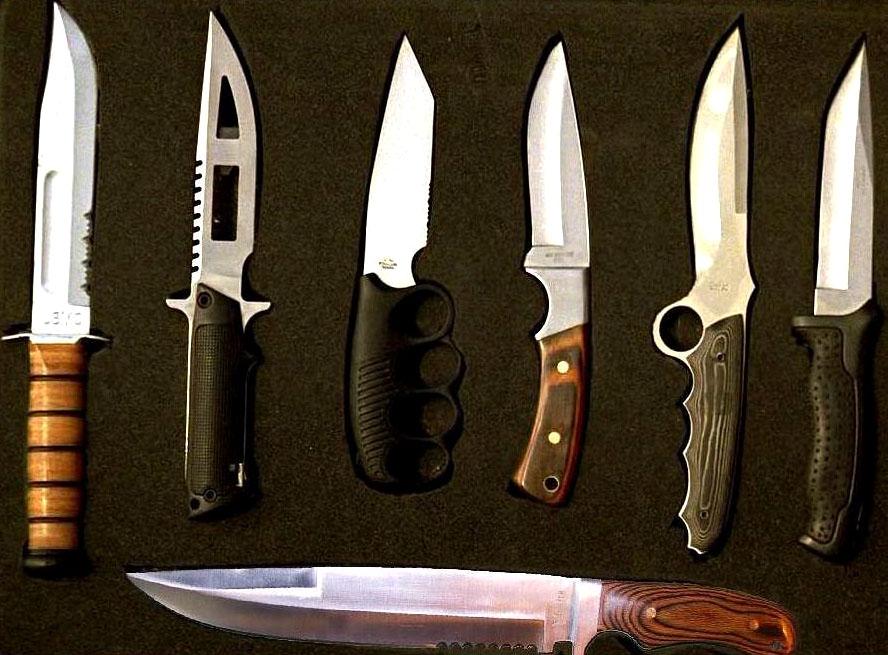 Set completo de cuchillos.