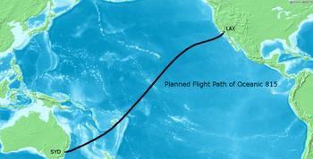 Planned Flight Path Oceanic 815 02