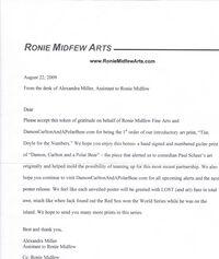 Ronie midfew letter
