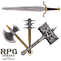 Daz Productions - RPG Series weaponry