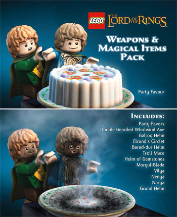 Lego Lotr weapons and magical items pack-DLC