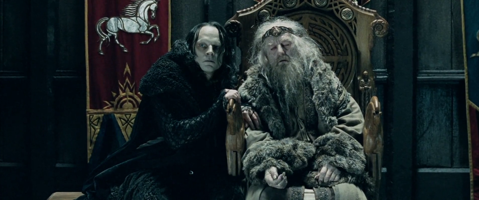 Wormtongue & King Theoden
