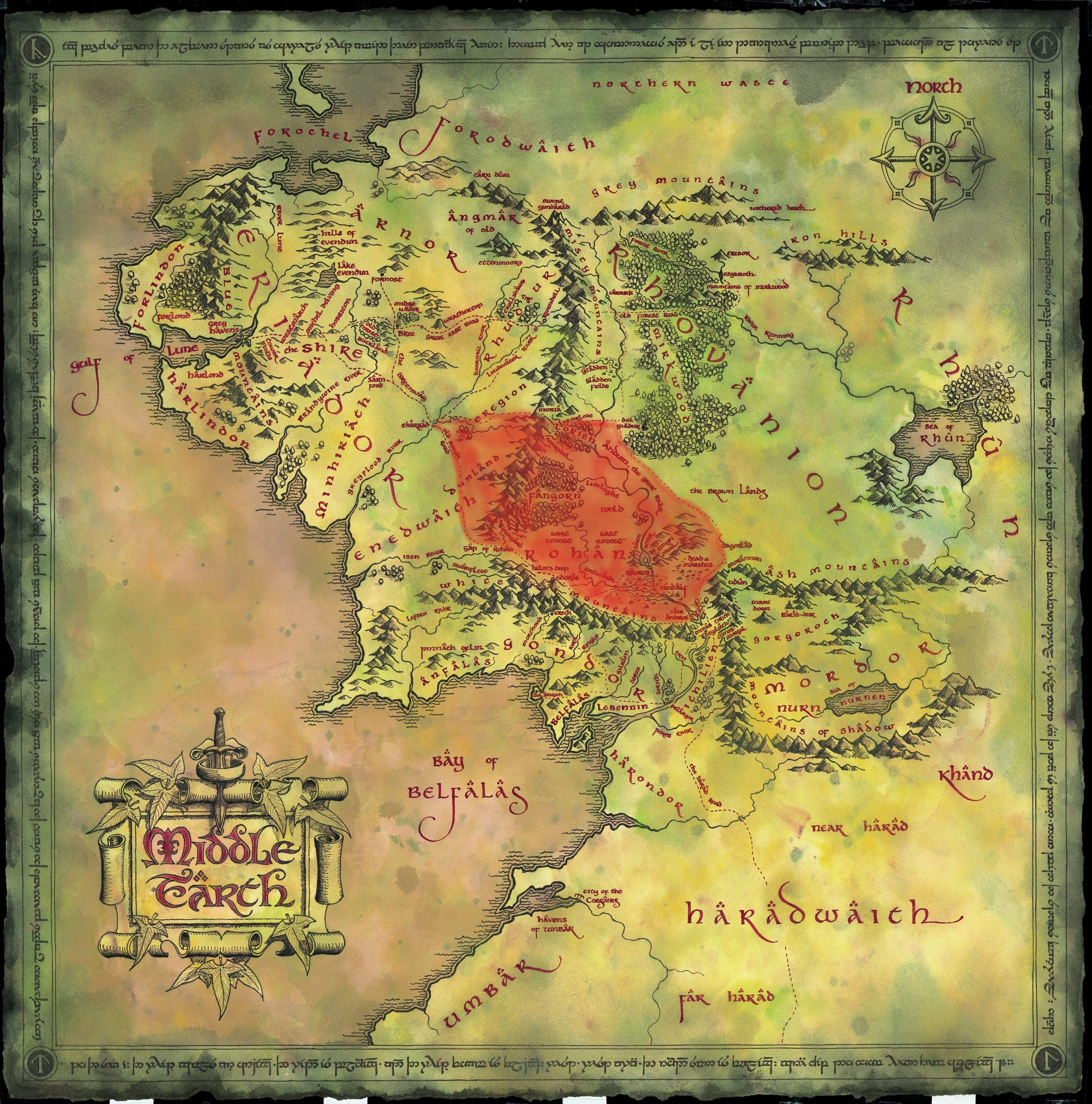 Maps The One Wiki to Rule Them All – Lord of the Rings Detailed Map