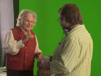 Ian Holm and Peter Jackson reunion
