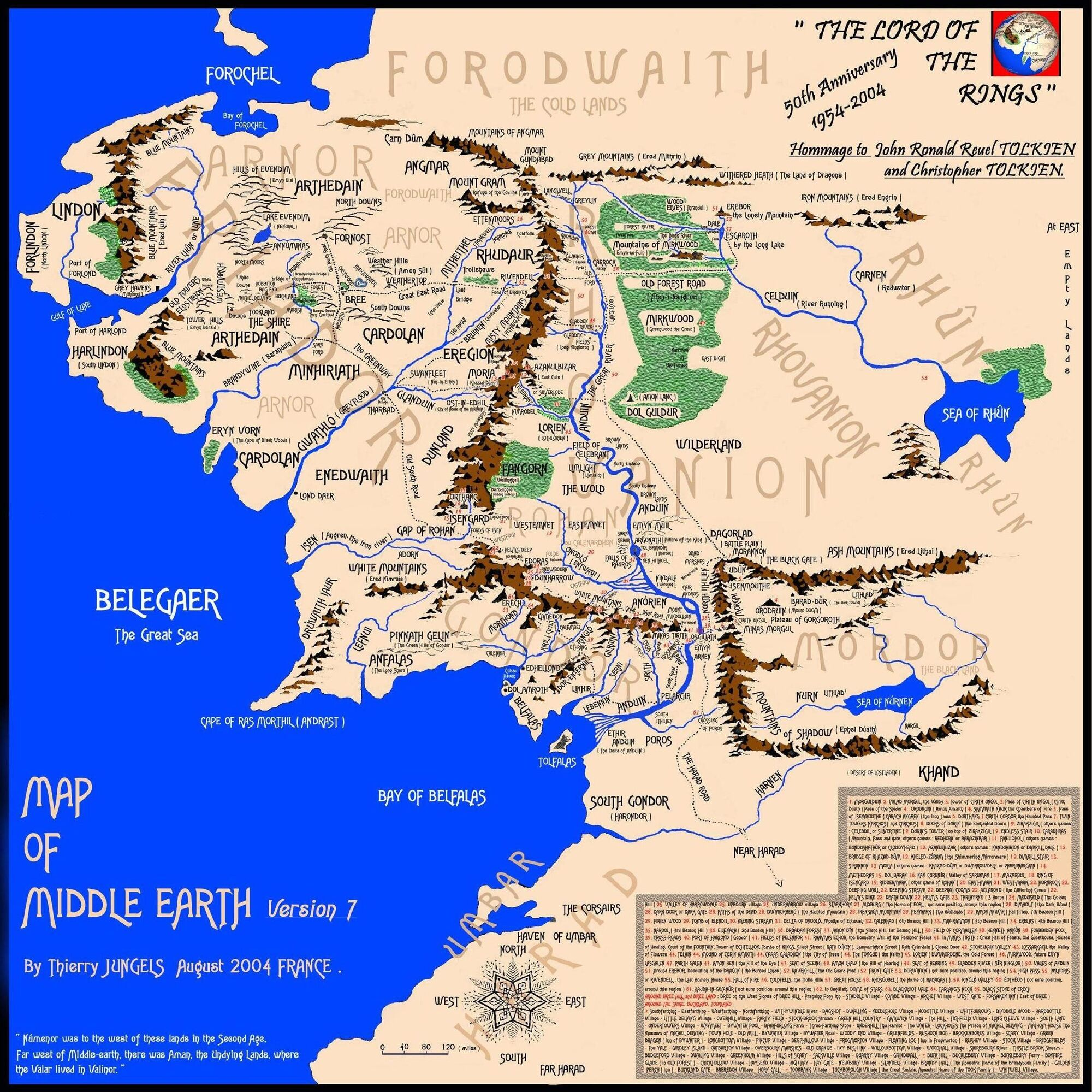Image MAPOFMIDDLEEARTHVERSION7jpg – Lord of the Rings Map Middle Earth